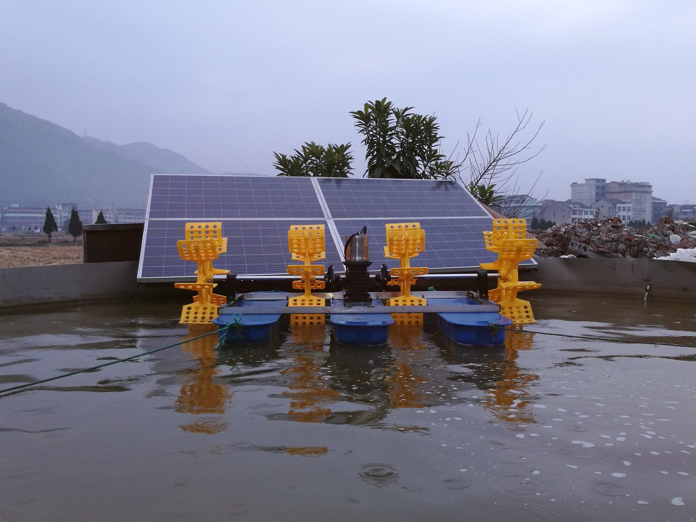 [Hot Item] Solar Aerator for Aquaculture Fish Pond Aerator Shrimp Farming  Paddle Wheel Aerator