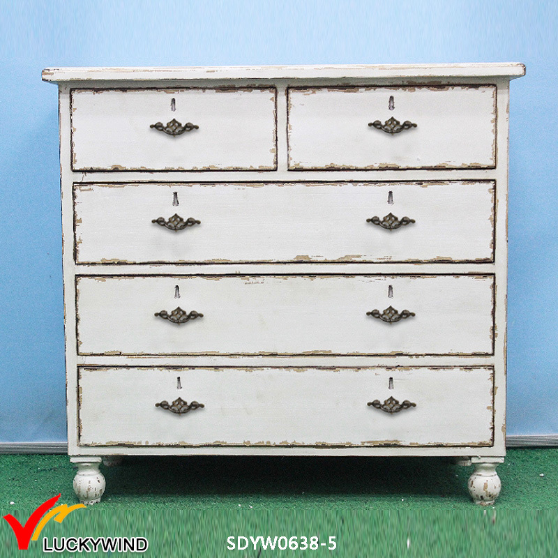 China French Country Style Furniture Antique Distressed Living Room Side Cabinet