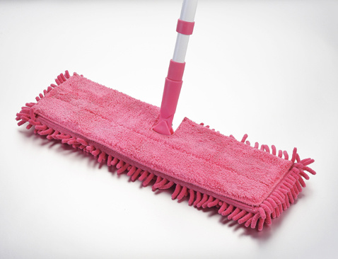 Telescopic Chenille Microfiber Double Sides Flat Mop for Easy Cleaning (1066)