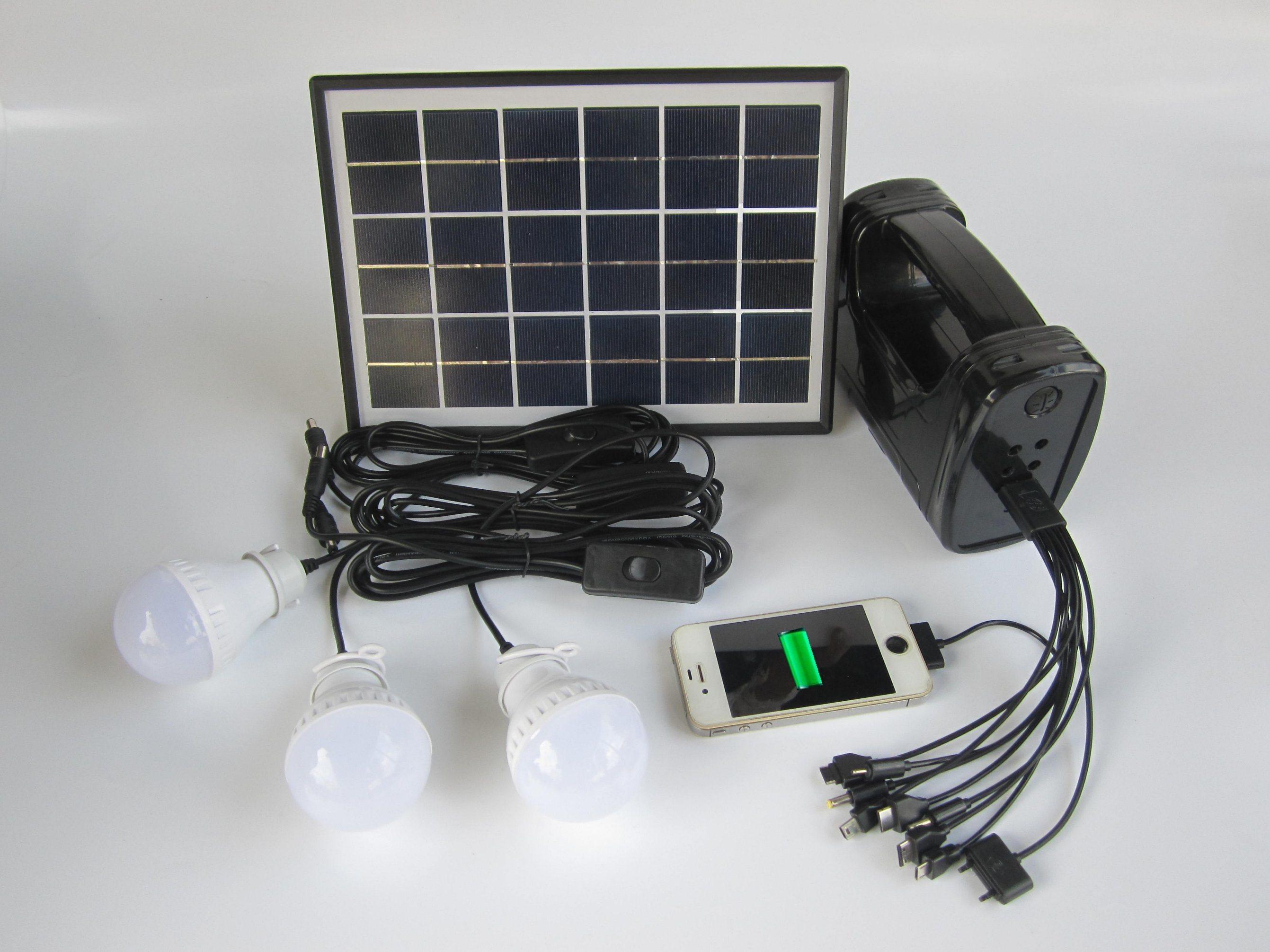 Hot Item Solar Lamp With Light Kit Reading Kits 5w Panel Fm Radio
