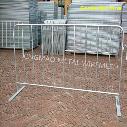 2.3m Heavy Duty Fixed Foot Pedestrian Crowd Control Barrier (XM-11)
