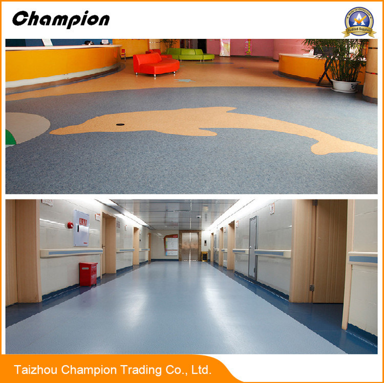 China By Top Quality 22mm Homogeneous Commercial Pvc Roll Flooring