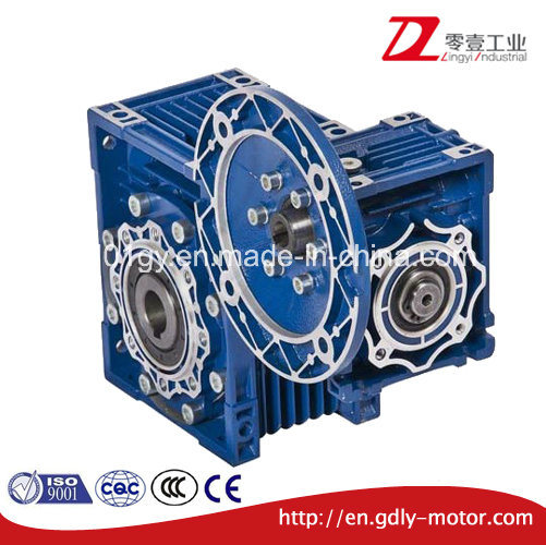 Double Stage Aluminum Worm Gear Speed Reduce Gearbox pictures & photos