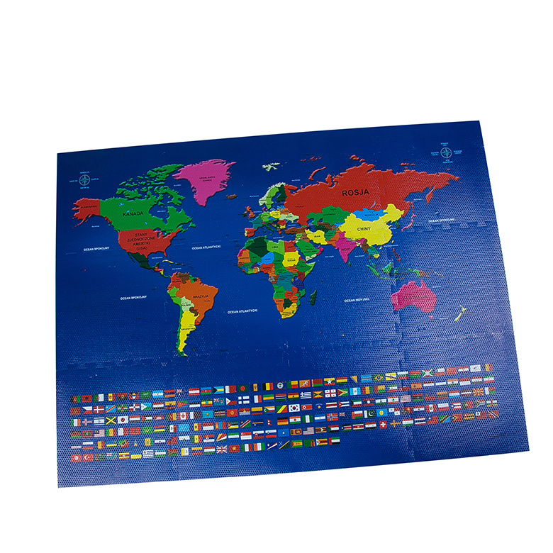 China Printing World Map Custom Floor EVA Foam Puzzle Mat ...