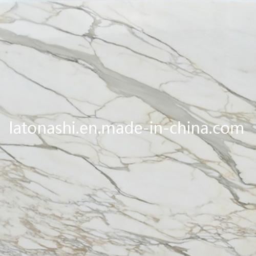 China Calacatta Golden Marble Italian White Marble Flooring Tile