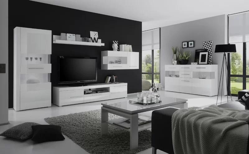 Modern Living Room Furniture High Gloss