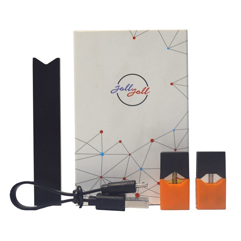 [Hot Item] Joll Starter Kit 280mAh Battery 2 Empty Refilled Pods Juul  Compatible Device 0 7ml/1 0ml Optional Black, Red, Blue and Gold Colors
