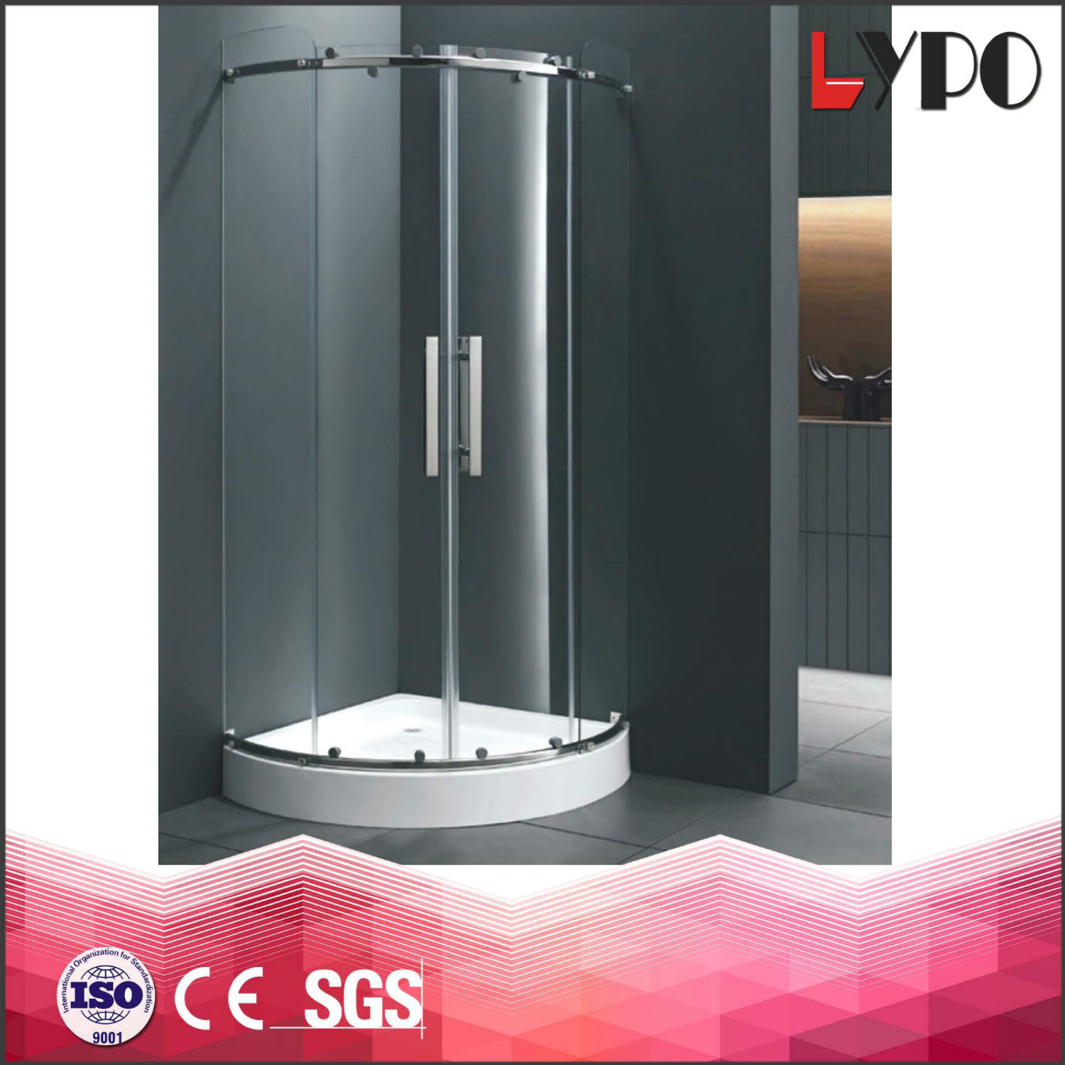 K 7206 China Suppliers Stainless Steel 304 Shower Room Square Size