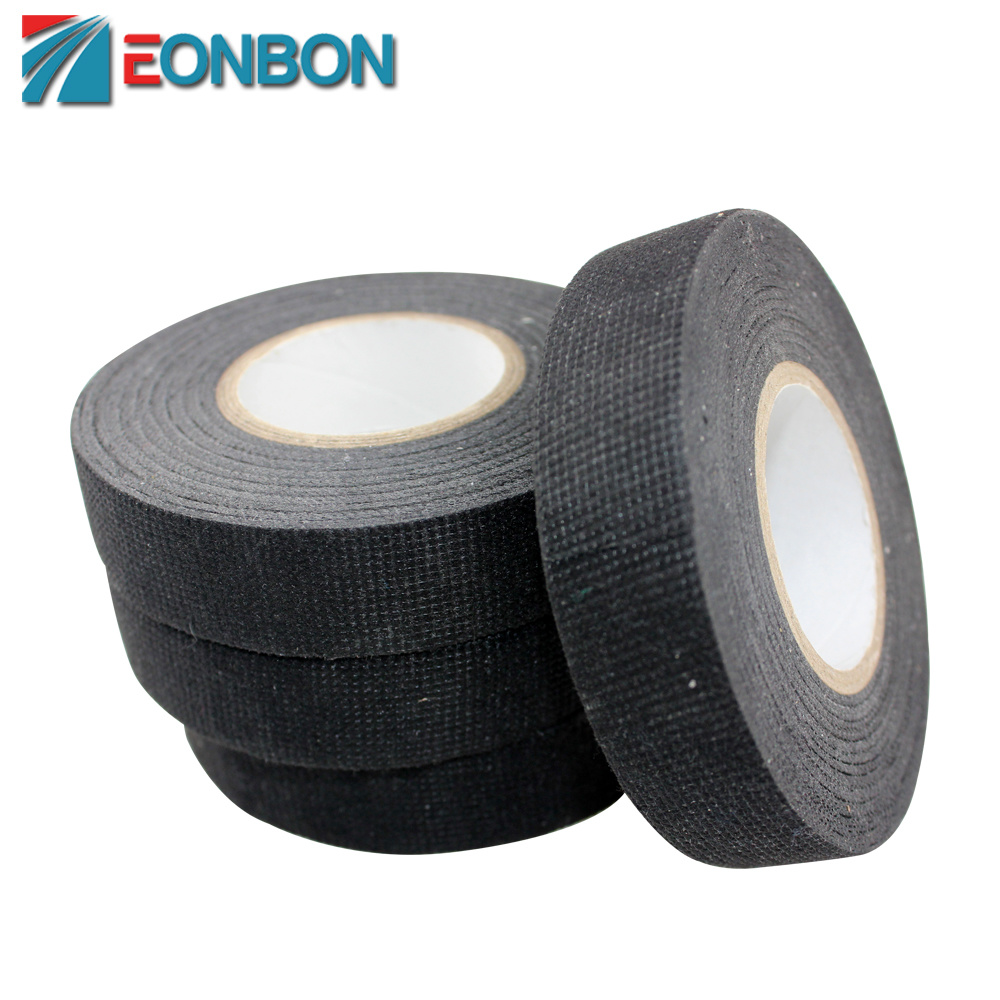 China Eonbon Polyester Wire Harness Adhesive Tape Fabric Insulation Auto Wrap Cotton