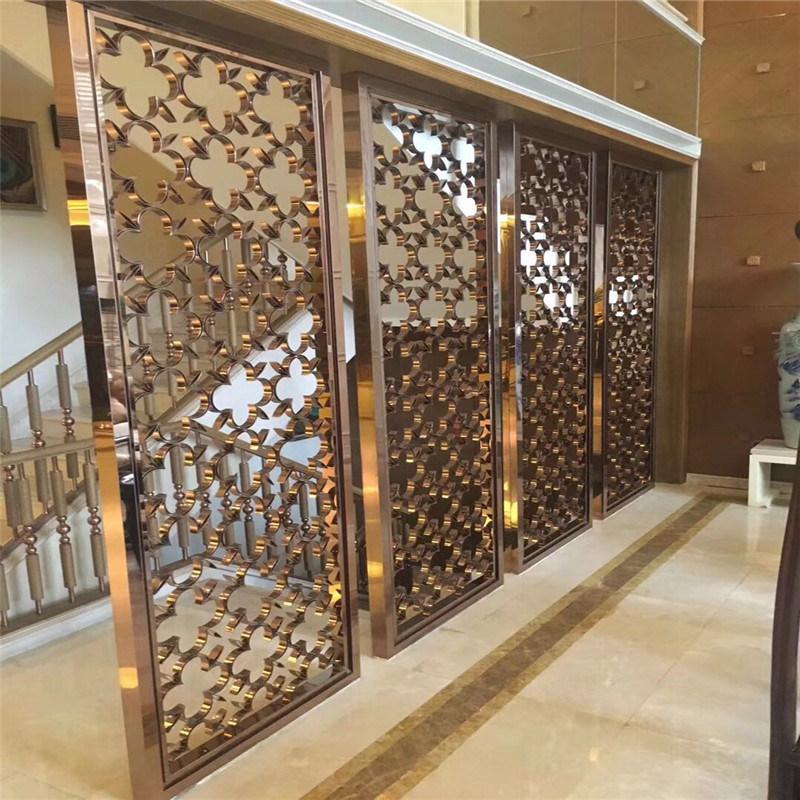 China Hot Sale Laser Cut Metal Screen Dividers For Door