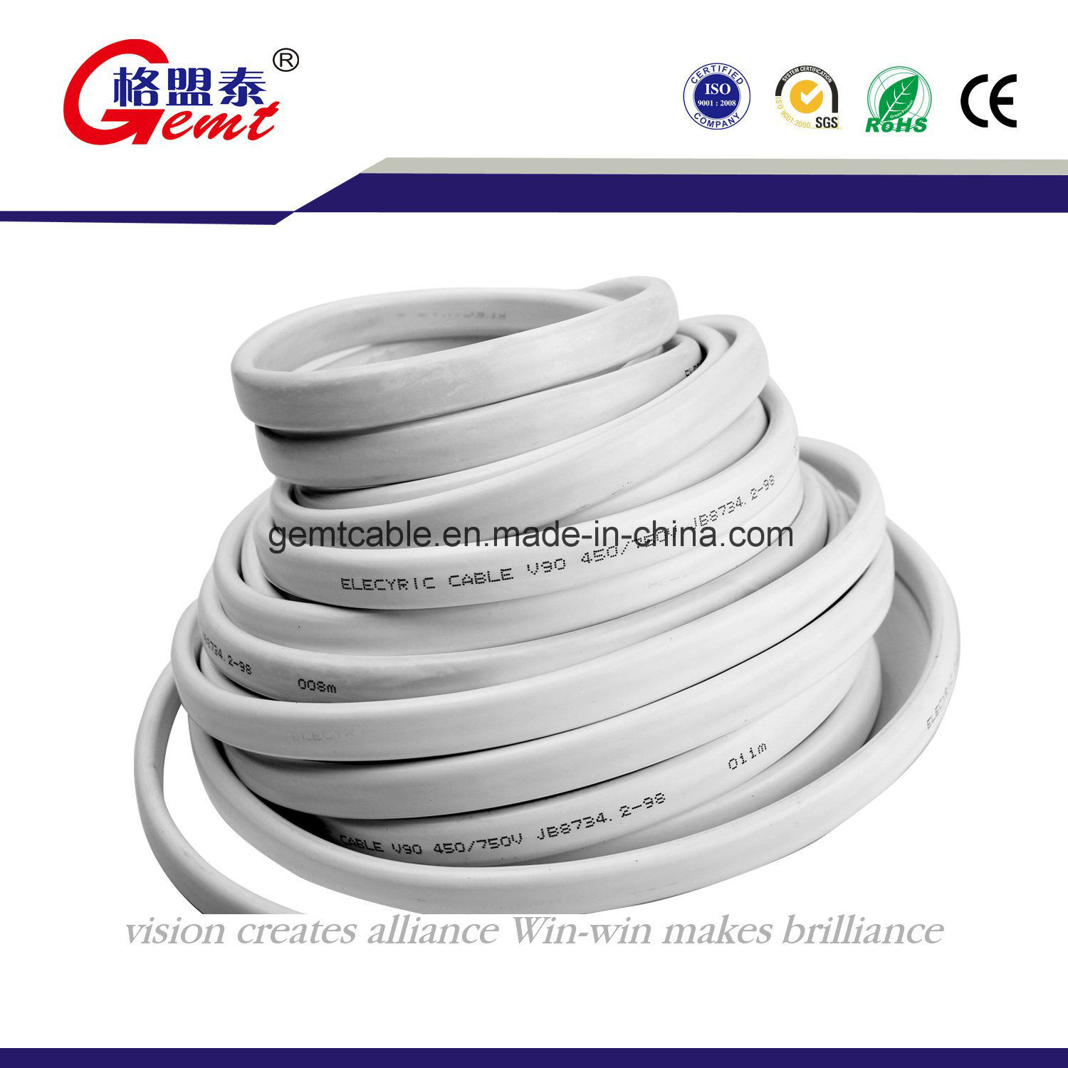 China Real Factory PVC Insulated Copper Flat Cable CCA Flat Cable ...