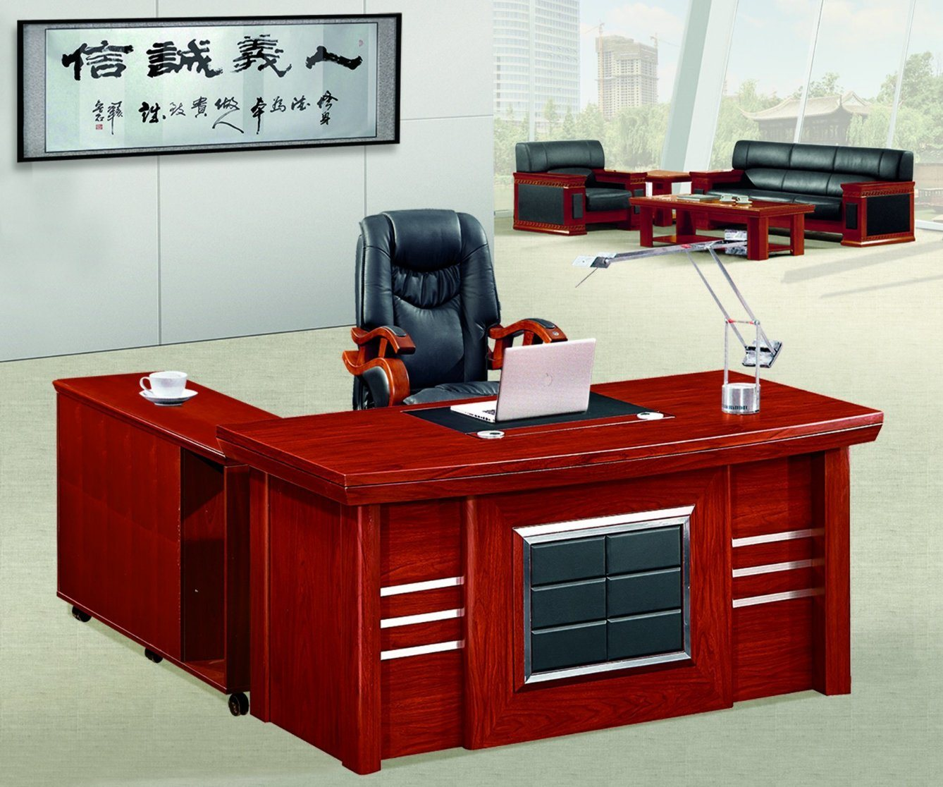 Office Furniture L Shaped Laminate Wood