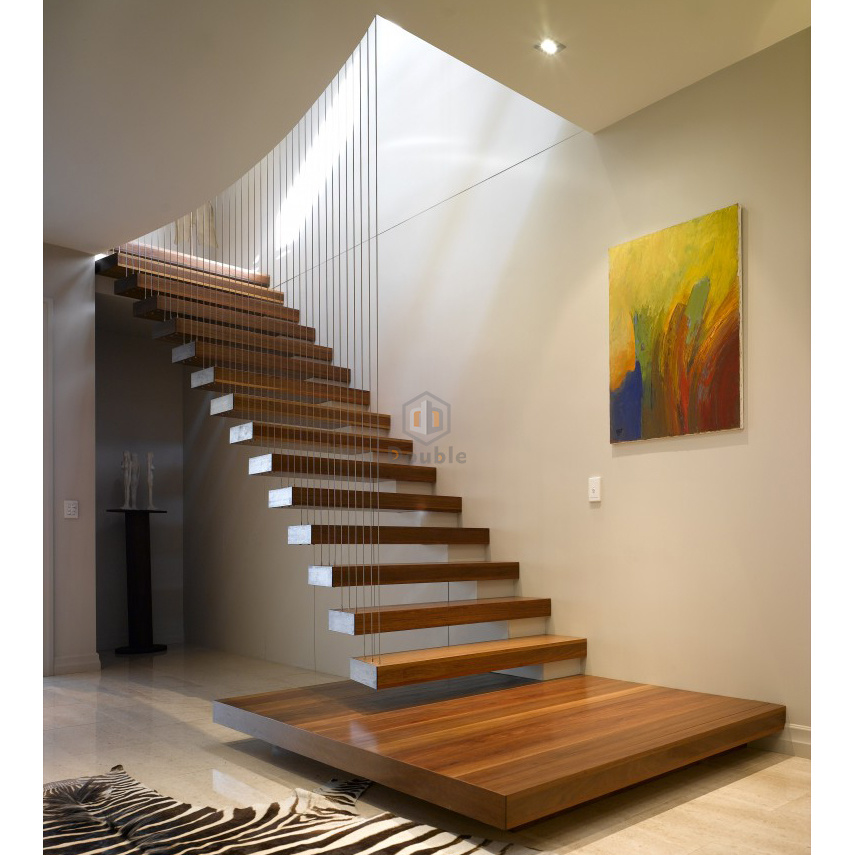 Stairs: China Contemporary Straight Stairs Floating Staircase With