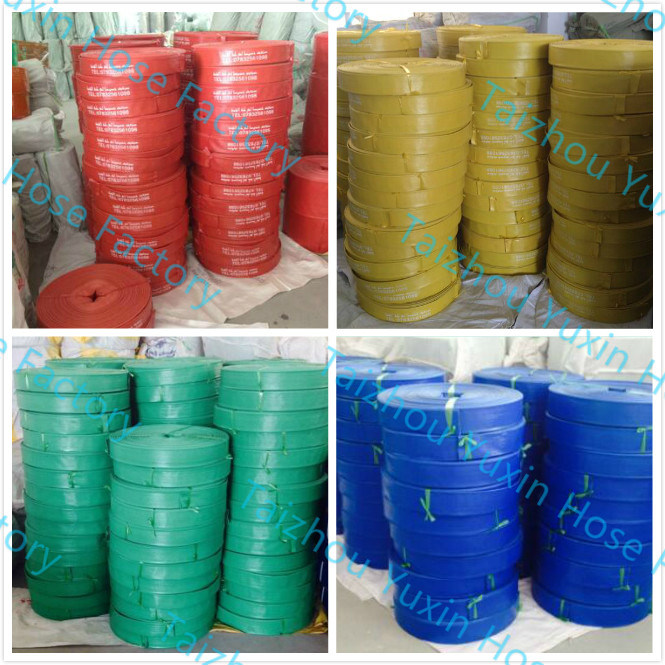 PVC Agriculture Irrigation Wholesale Layflat Fire Fighting Flexible Water Discharge Soft Garden Hose Factory Price pictures & photos