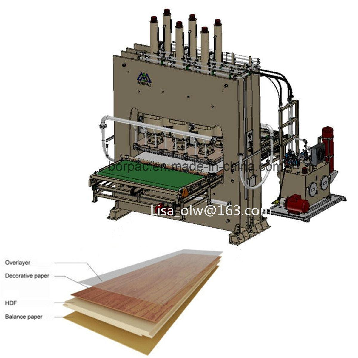 Mdf Hdf Laminate Flooring Short Cycle Hot Press Machine