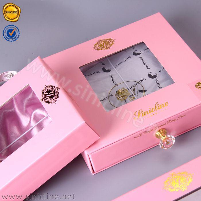 China Sun Nature Luxury Custom Human Hair Extension Packaging Box
