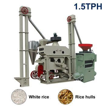 Small Rice Milling Machine-1.5tph