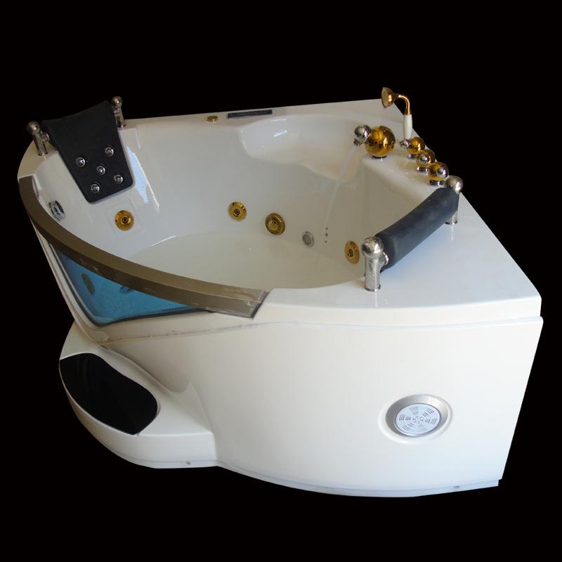 China Bathroom Corner Bathtub Sanitary Ware Massage Jacuzzi Photos ...