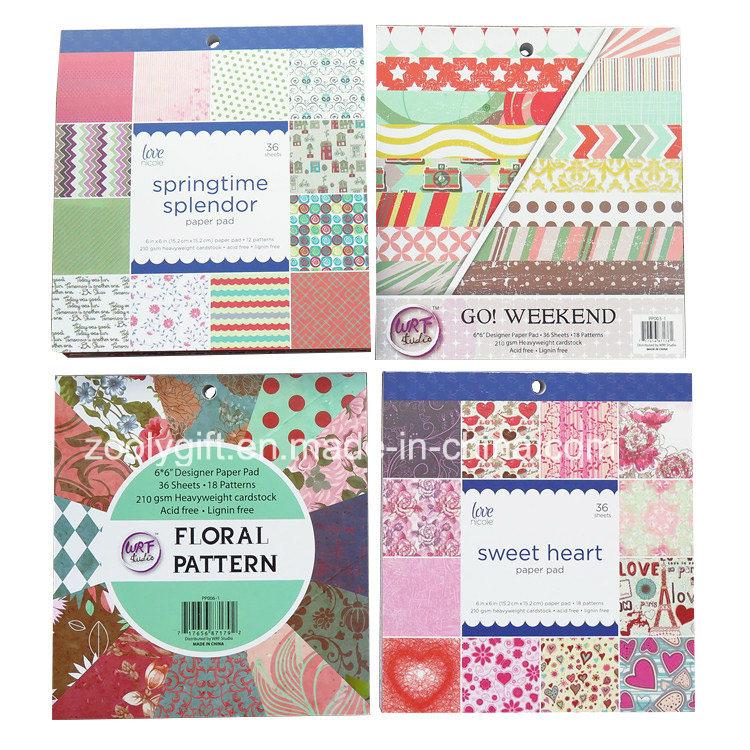 China Customize Printing 6x6 Scrapbook Paper Decorative Diy 12x12 Scrapbooking Paper Pack China Scrapbook Paper And Scrapbooking Price