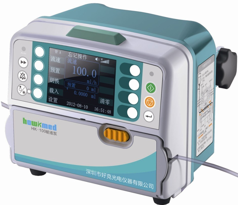 Compact IV Volumetric Infusion Pump with CE