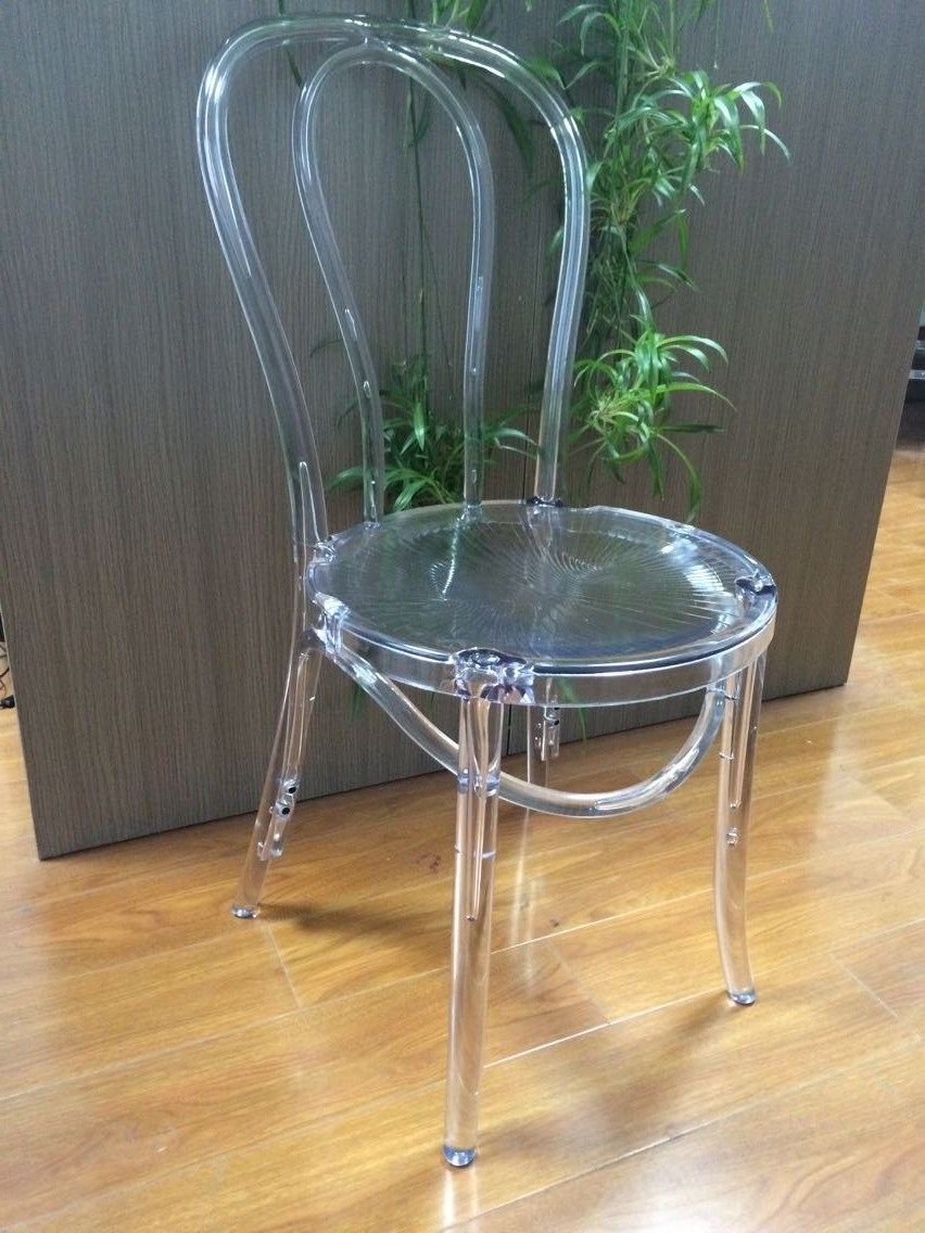China Stackable Resin Thonet Chair Acrylic Bentwood For Dining