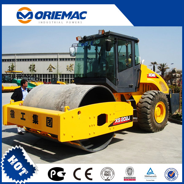 Model 608S 8 Ton Hydraulic Road Roller Yellow For Earth