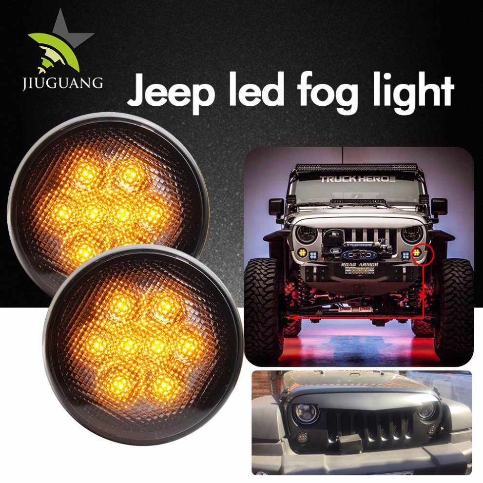 Wholesale Led Fog Light Buy Reliable From Online Strobe Circuit China 2000k 3000k Black Chrome 12v For Jeep