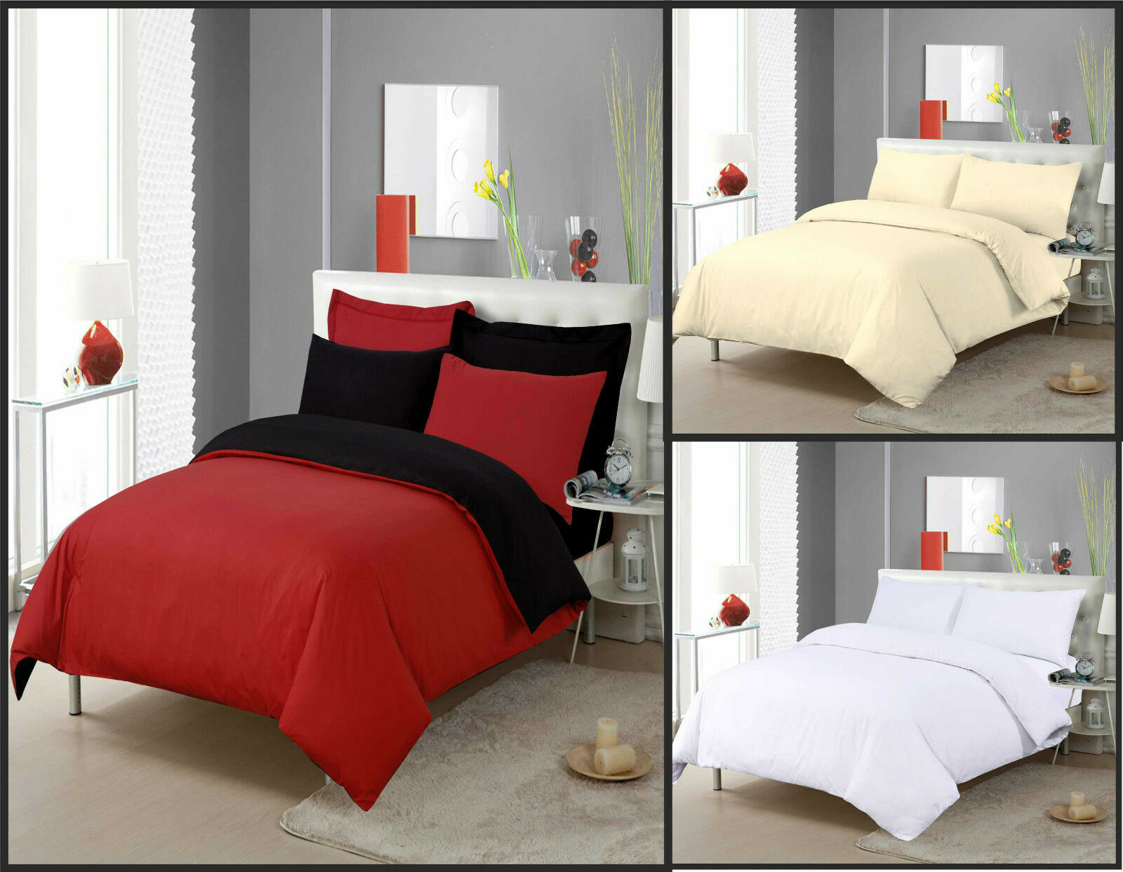China Plain Dyed Duvet Set W Pillow Case Red Black White Cream Single Double King China Bedding Set And Bed Sheet Price