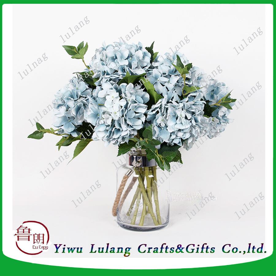 China Wholesale Cheap Artificial Hydrangea Silk Flowers Photos