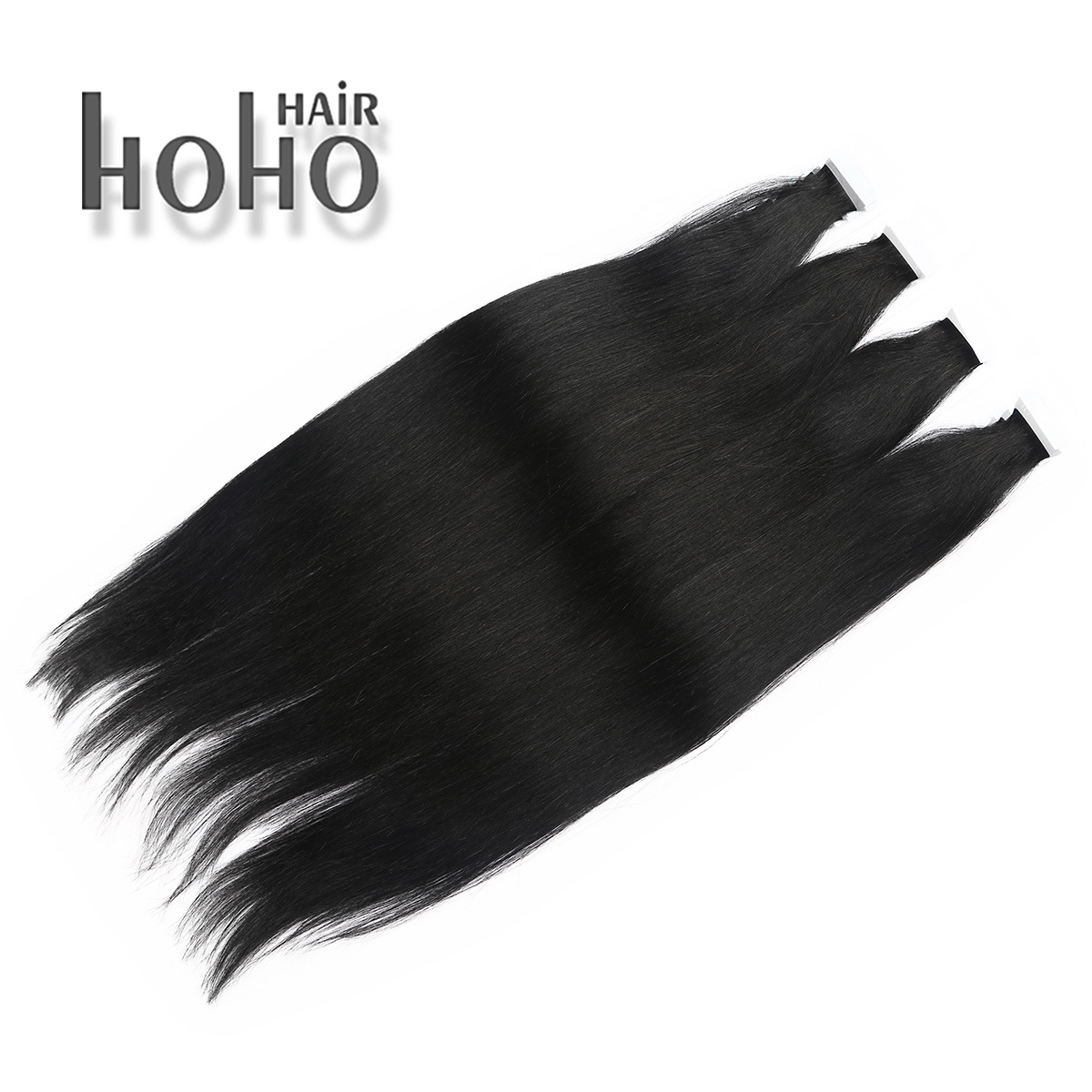 China High Quality Double Drawn Black 16 Inch Tape Hair Extension