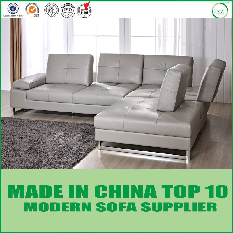 [Hot Item] Cozy Modern Living Room Lounge Furniture Italian Leather  Sectional Sofa