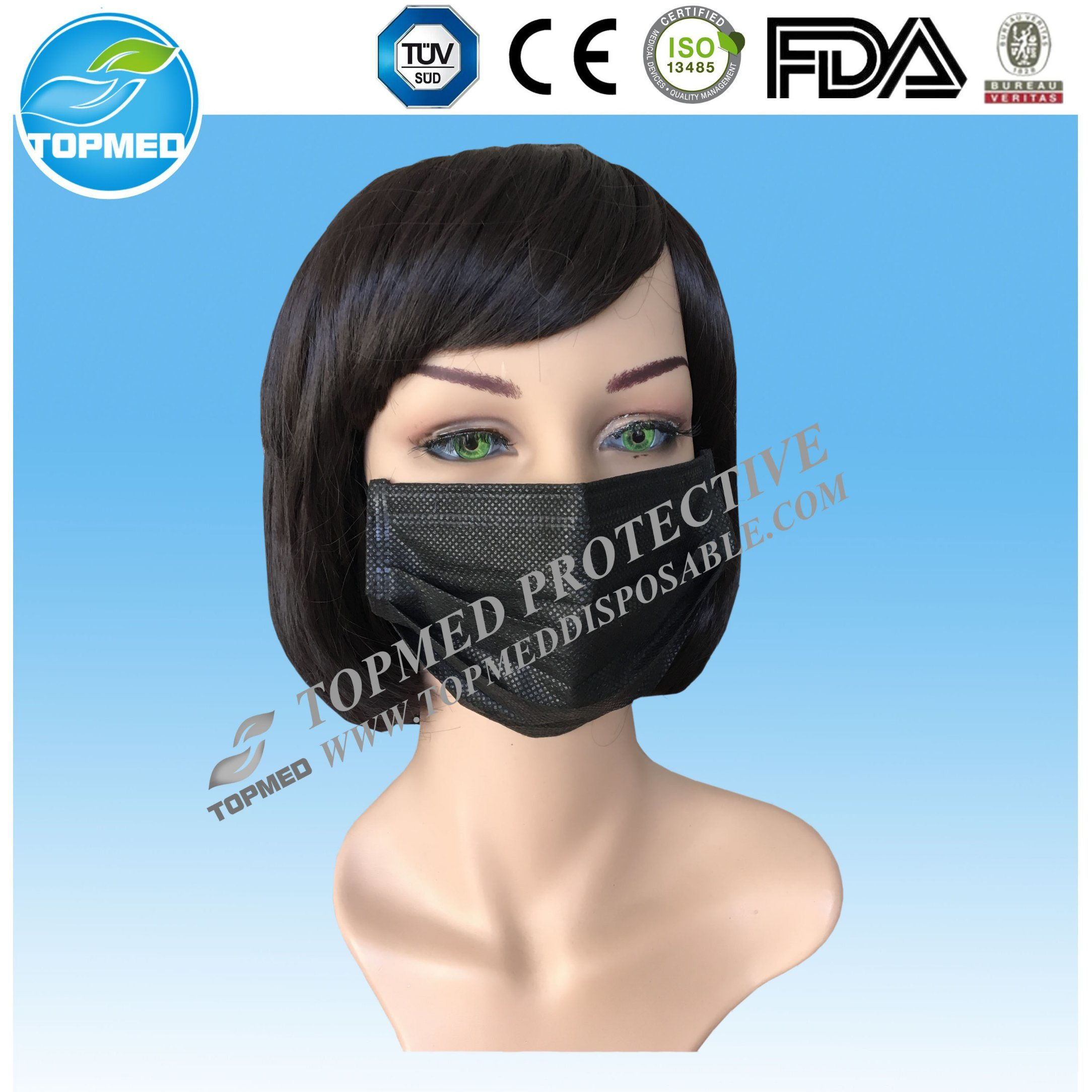 black mouth mask disposable