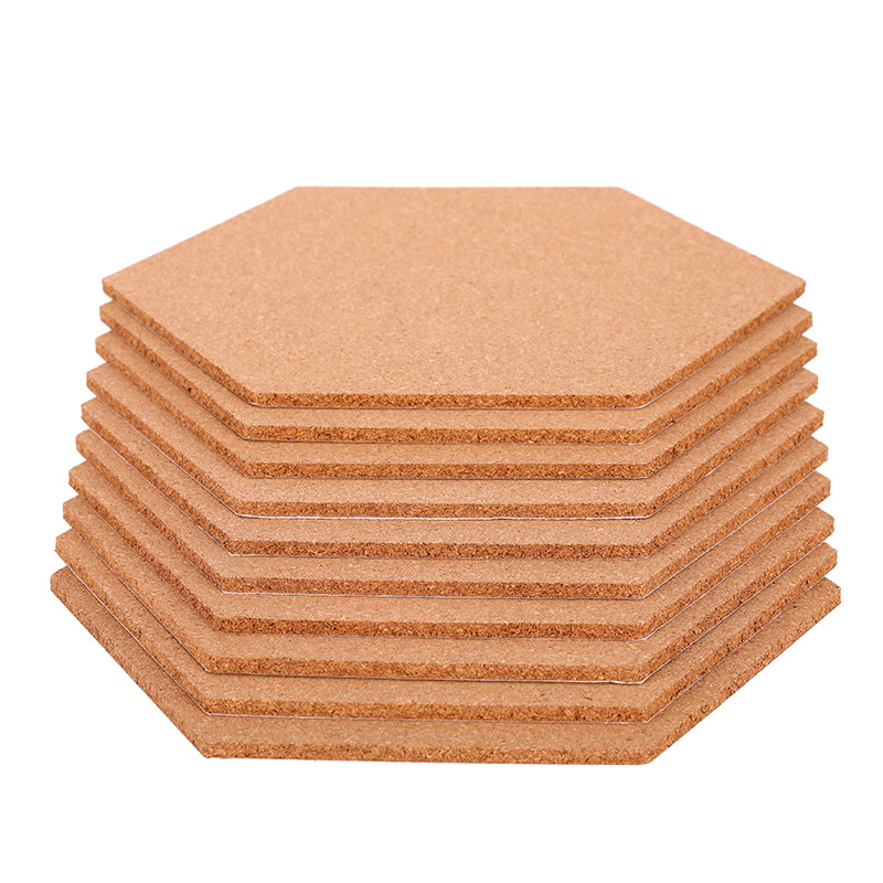 China Hexagon Shape Bulletin Notice Memo Cork Tiles Board China
