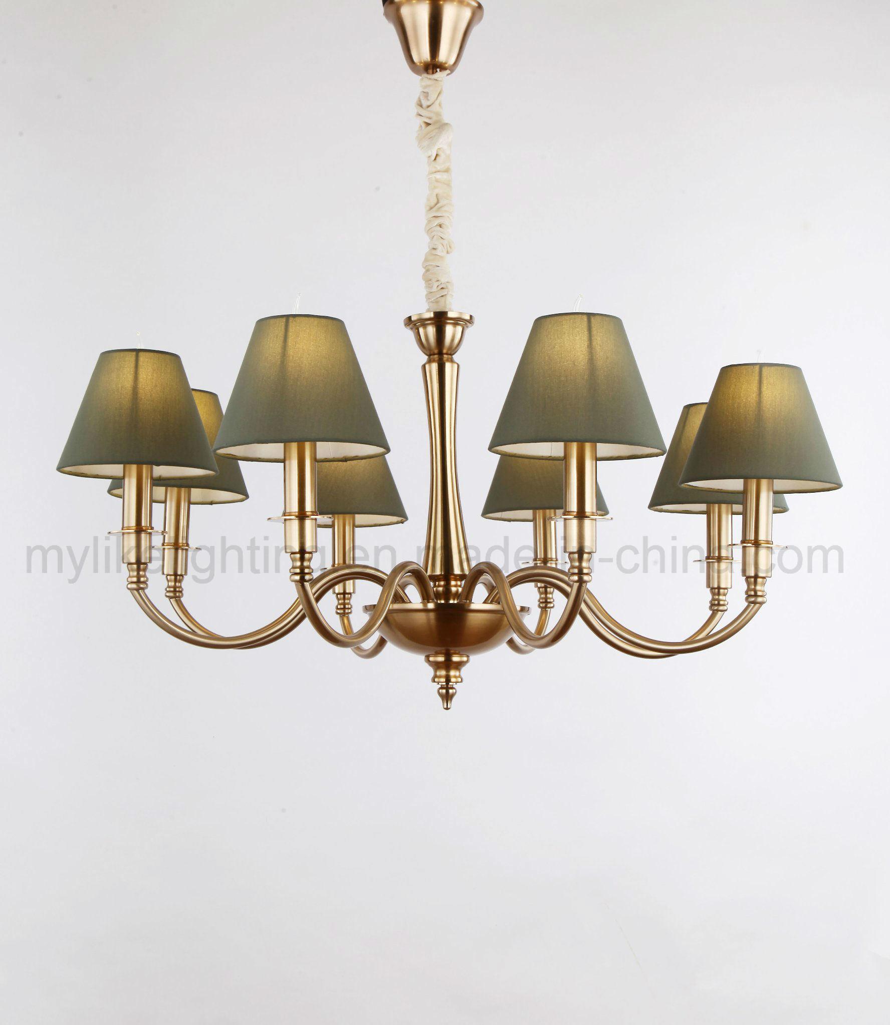 China Simple Dark Green Lamp Shade