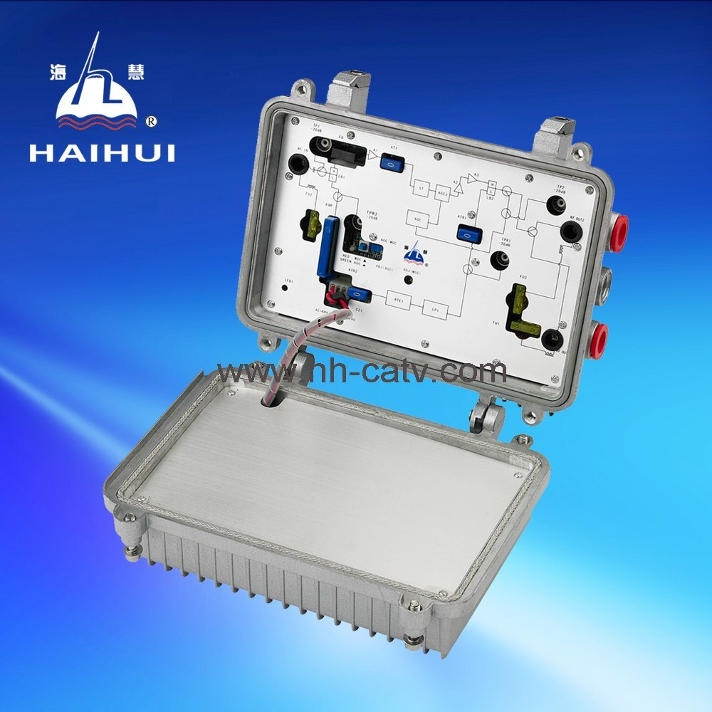 China Catv Two Port Outdoor Bidirectional Rf Power Amplifier Amp Cable