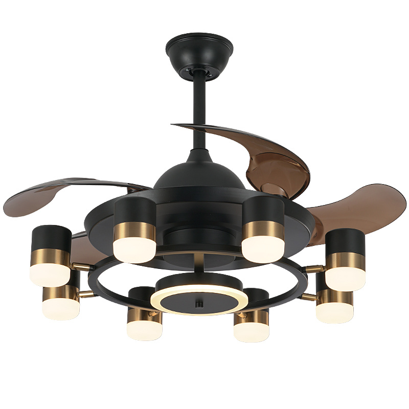 China Home Smart Mute Modern Chandelier Fan Light Ceiling Fans With Led Lights Remote Control Bedroom Dining China Chandelier Luxury Chandeliers And Lamps