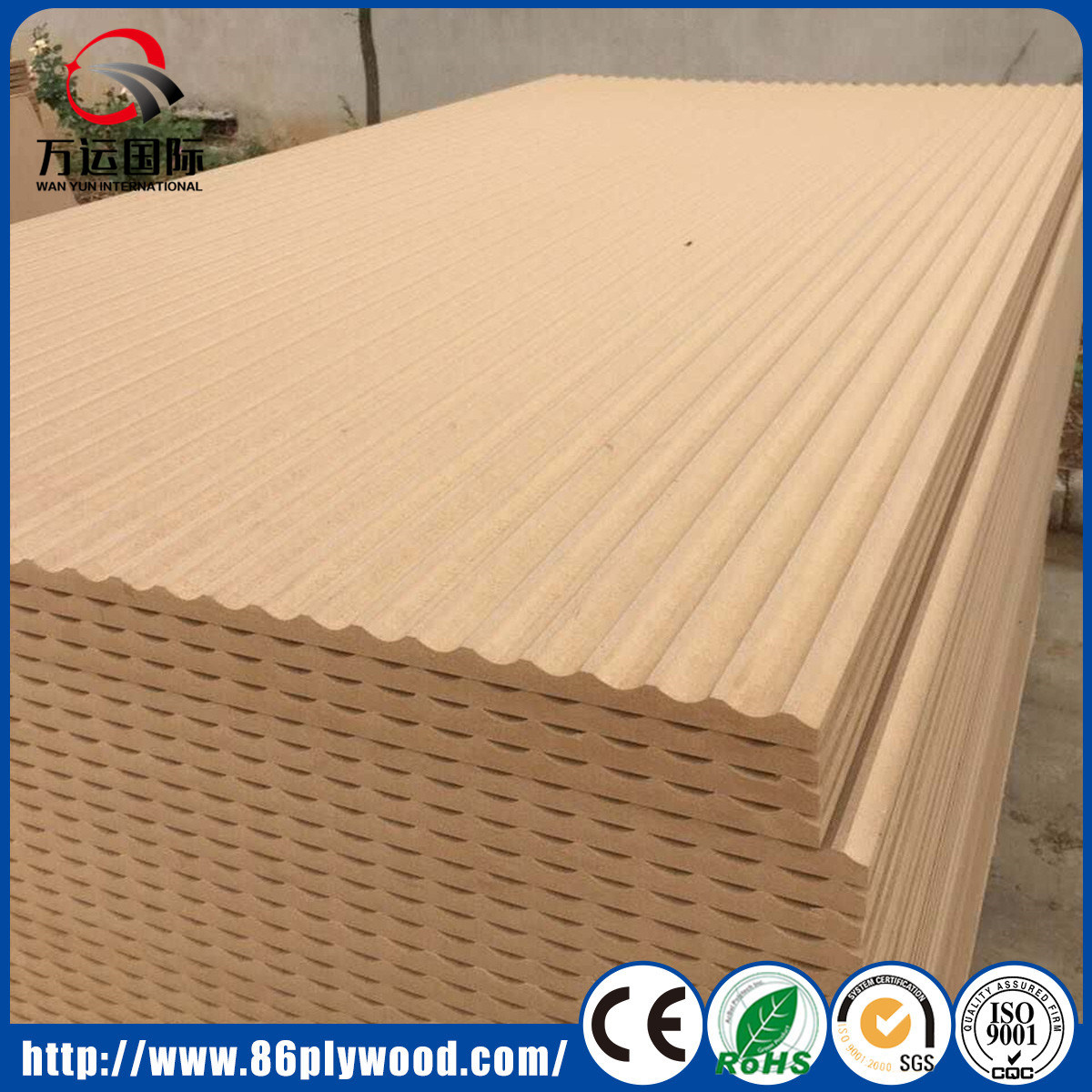 China Decorative Textured Embossed Plain 3D MDF Wall Panel Photos ...