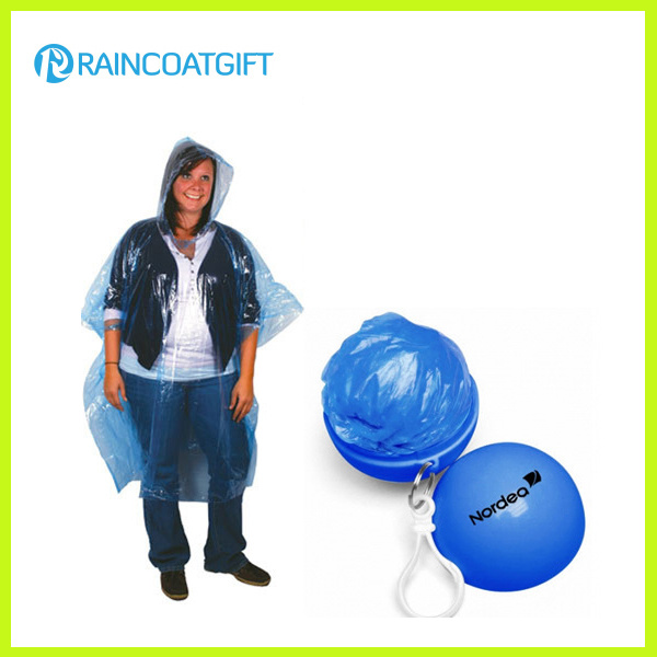 Disposable PE Rain Poncho Ball Rvc-104
