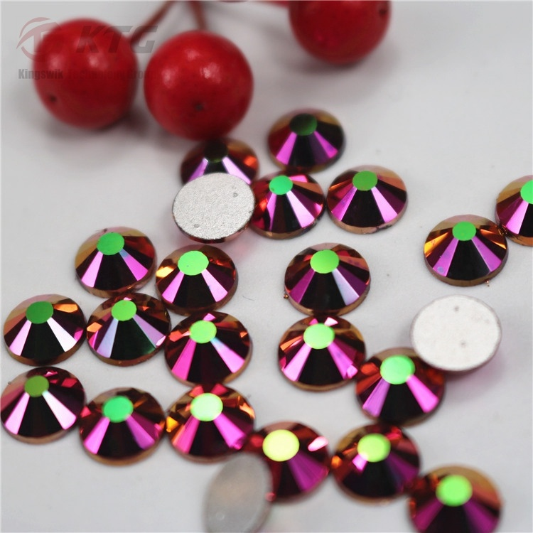 2017 Kingswick New Glass Non Hot Fix Strass Rainbow Rose Gold Glass Nail Art Rhinestones for DIY Nail Art Decoration pictures & photos