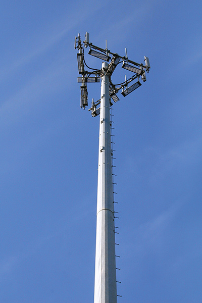 Self Standing Single Pillar Telecom GSM Bts Steel Poles Tower pictures & photos