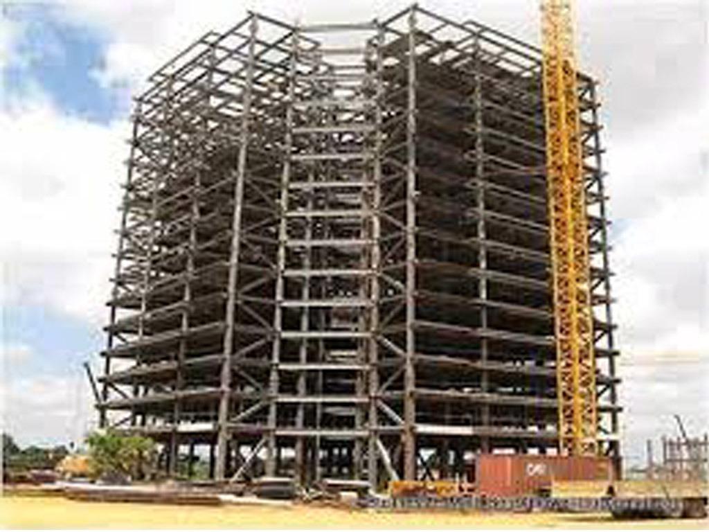 China 4 Storeys Steel Frame Construction Prefab House - China ...