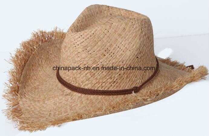 b3b0c8b6a [Hot Item] Handmade Raffia Straw Cowboy Hats (CPHC8013X)