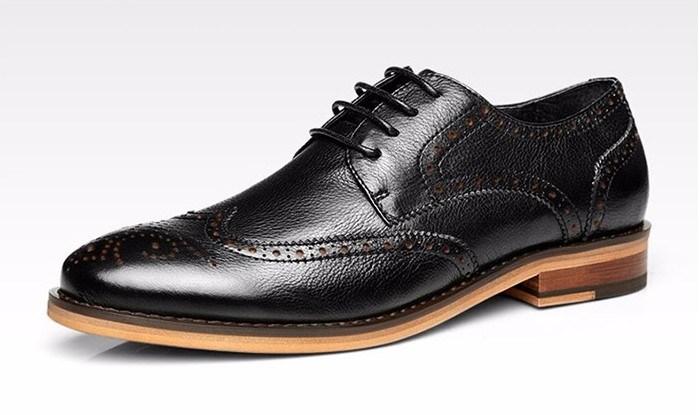 Leather Wood Sole Comfotable Shoes