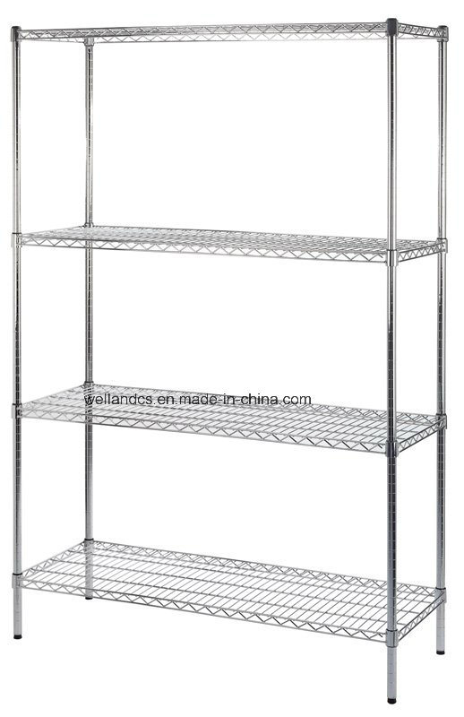 new styles 74ab0 be332 [Hot Item] China Manufacturer 4 Tier Metal Shelf Rack Storage Commercial  Wire Shelving with NSF Approval
