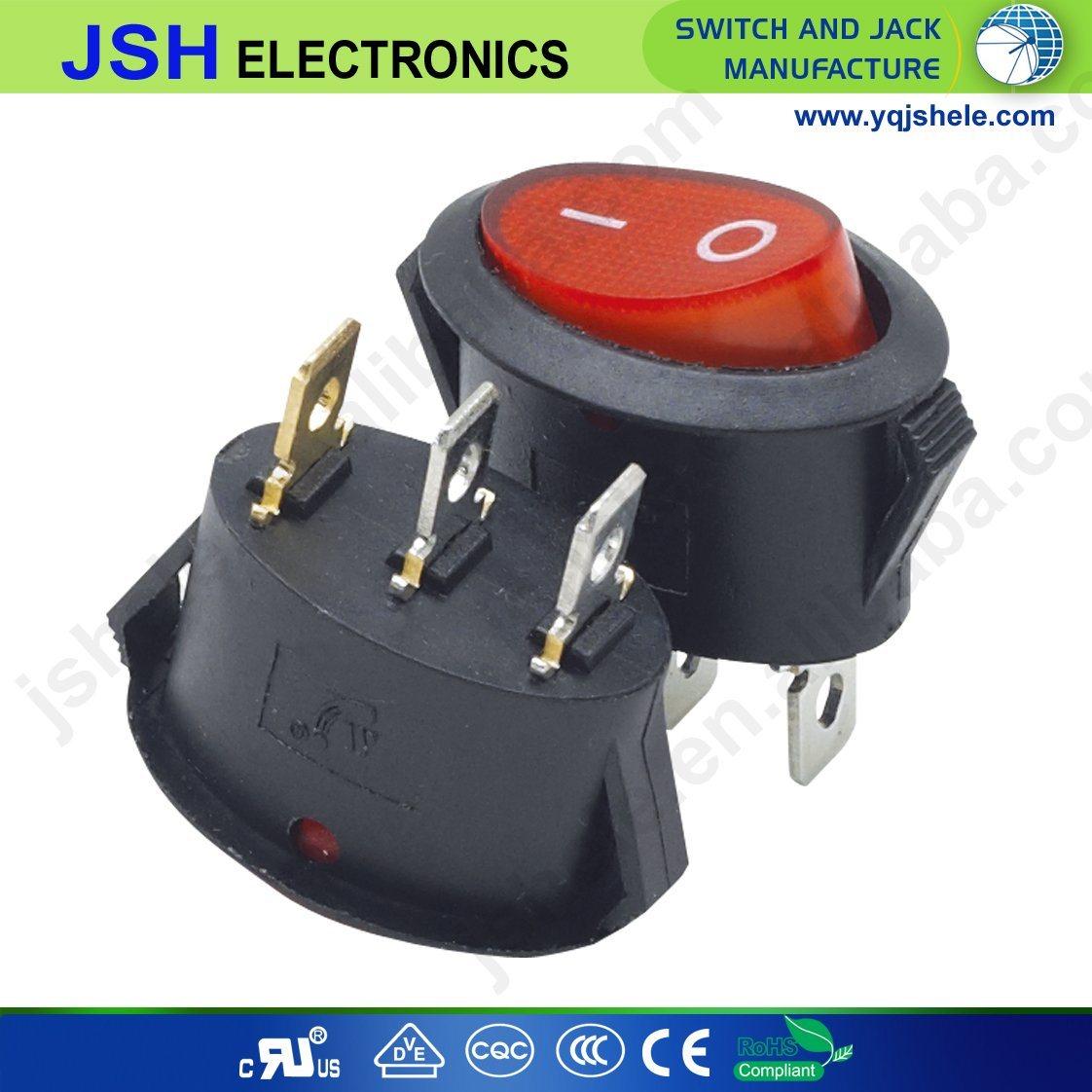 China T85 Oval Rocker Switch with Light - China Illumianted Rocker ...