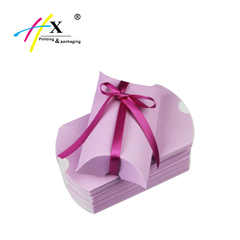 Custom Cheap Pink Paper Pillow Packaging with Logo