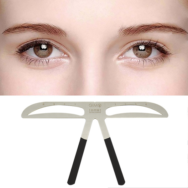 China Microblading Ruler Eyebrow Tattoo Stencil Shaper Template