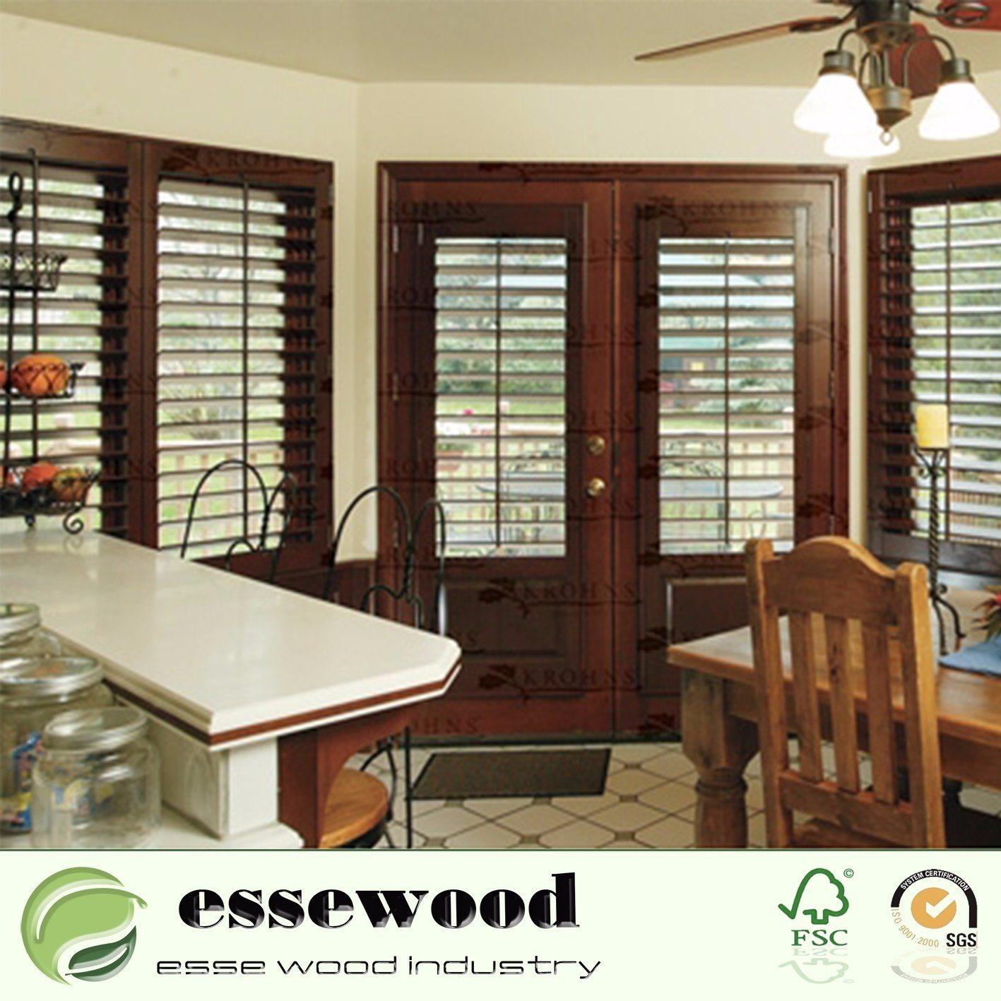 Hot Item Decorative Primed Plantation Wood Shutter Basswood Paulownia Wood Window Shutters
