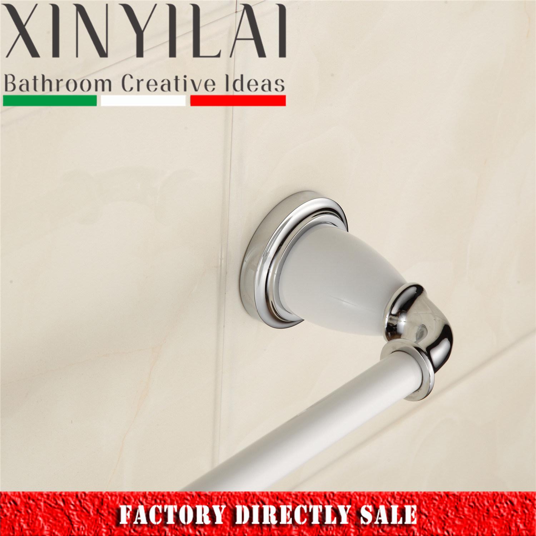 China 2017 Wall Mount Bathroom Brass Chrome Plated Towel Bar - China ...