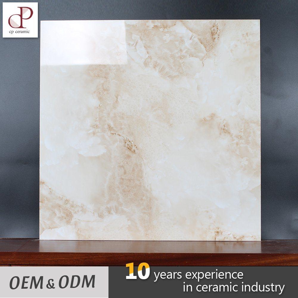China Ceramic Tile Custom Size High Gloss Glazed Marble Imitation